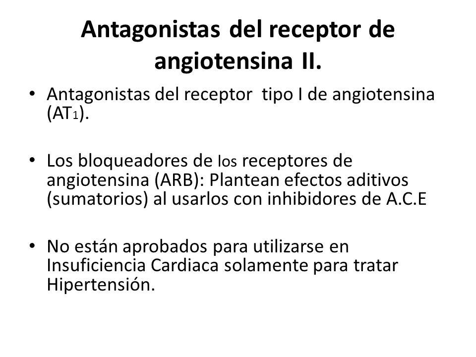 Antagonistas del receptor de angiotensina II.