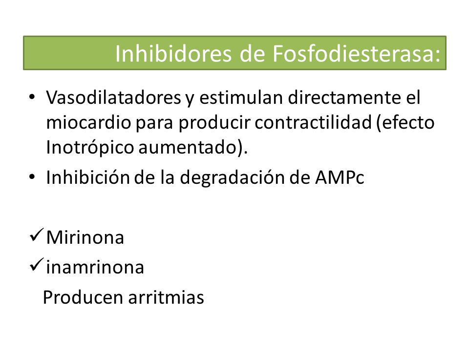 Inhibidores de Fosfodiesterasa: