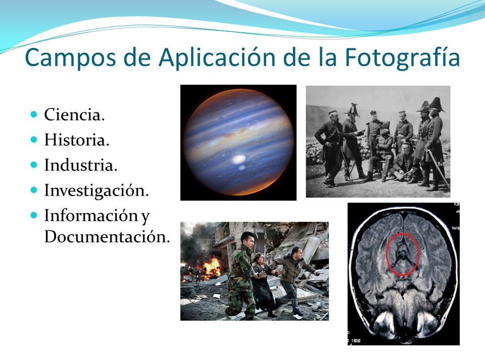 Campos de Aplicación de la Fotografía