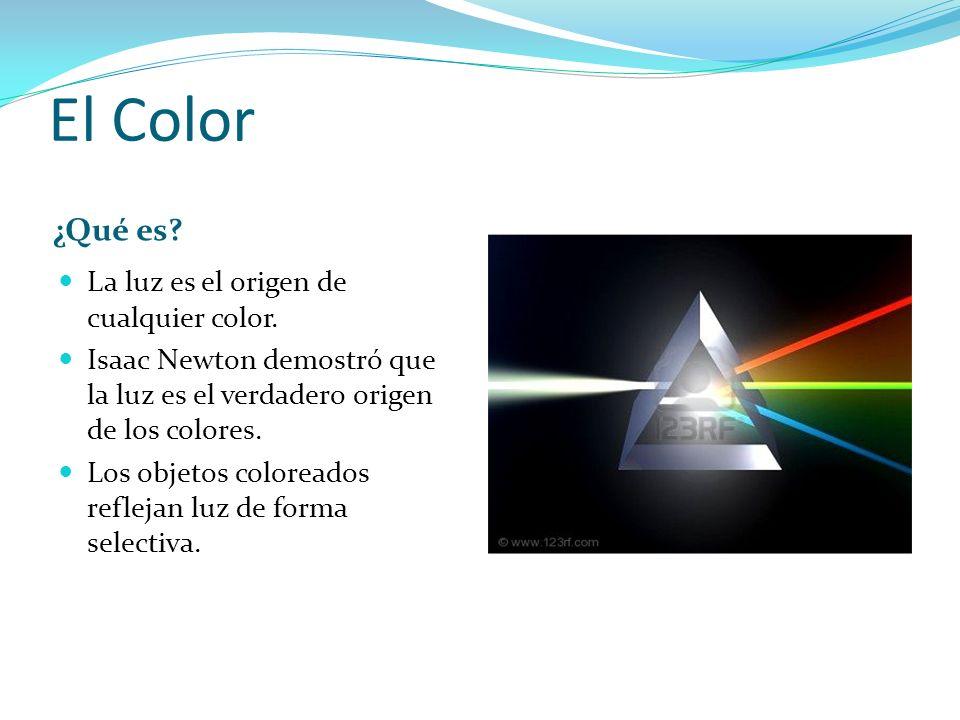 El Color ¿Qué es La luz es el origen de cualquier color.
