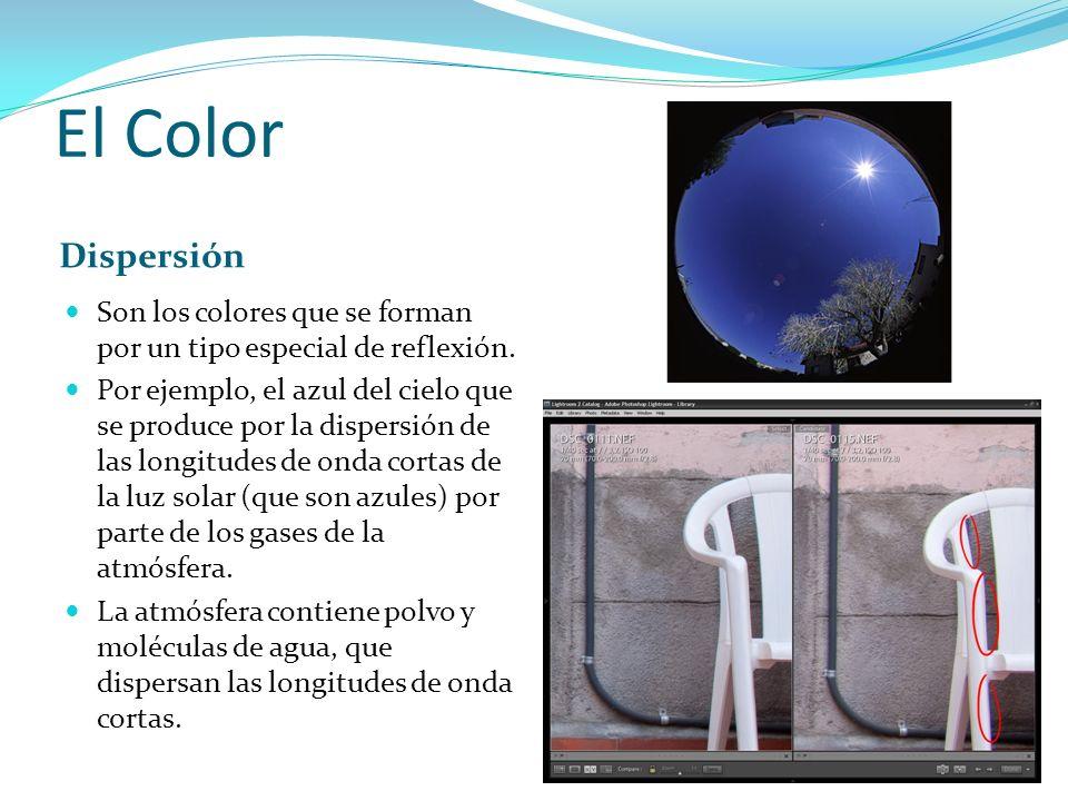 El Color Dispersión. Son los colores que se forman por un tipo especial de reflexión.