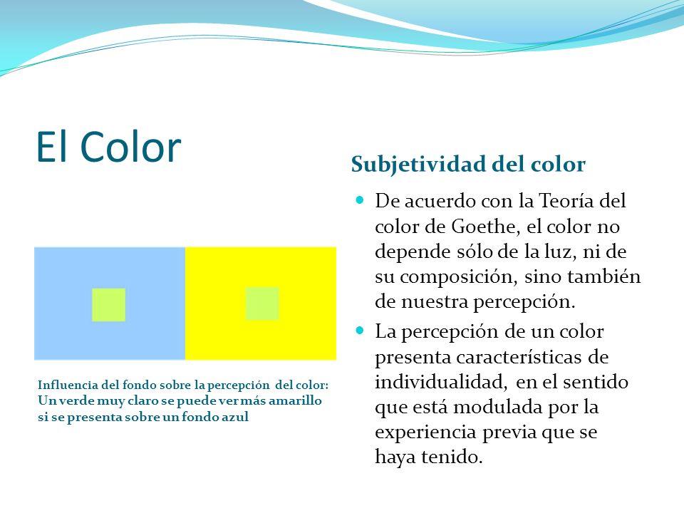 El Color Subjetividad del color
