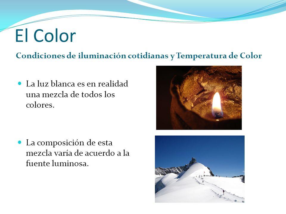 El Color La luz blanca es en realidad una mezcla de todos los colores.