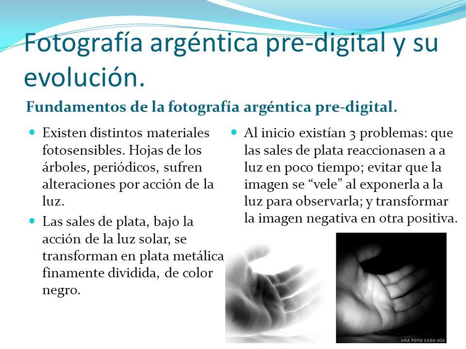 Fotografía argéntica pre-digital y su evolución.