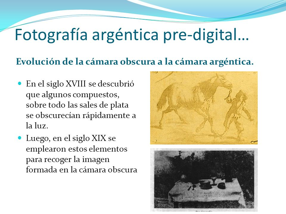 Fotografía argéntica pre-digital…