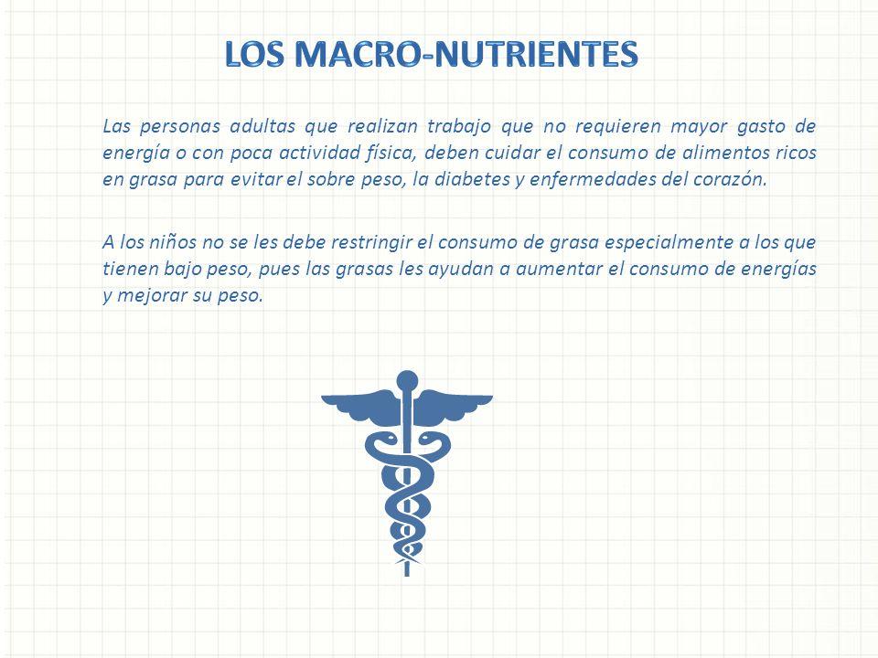 Los Macro-nutrientes