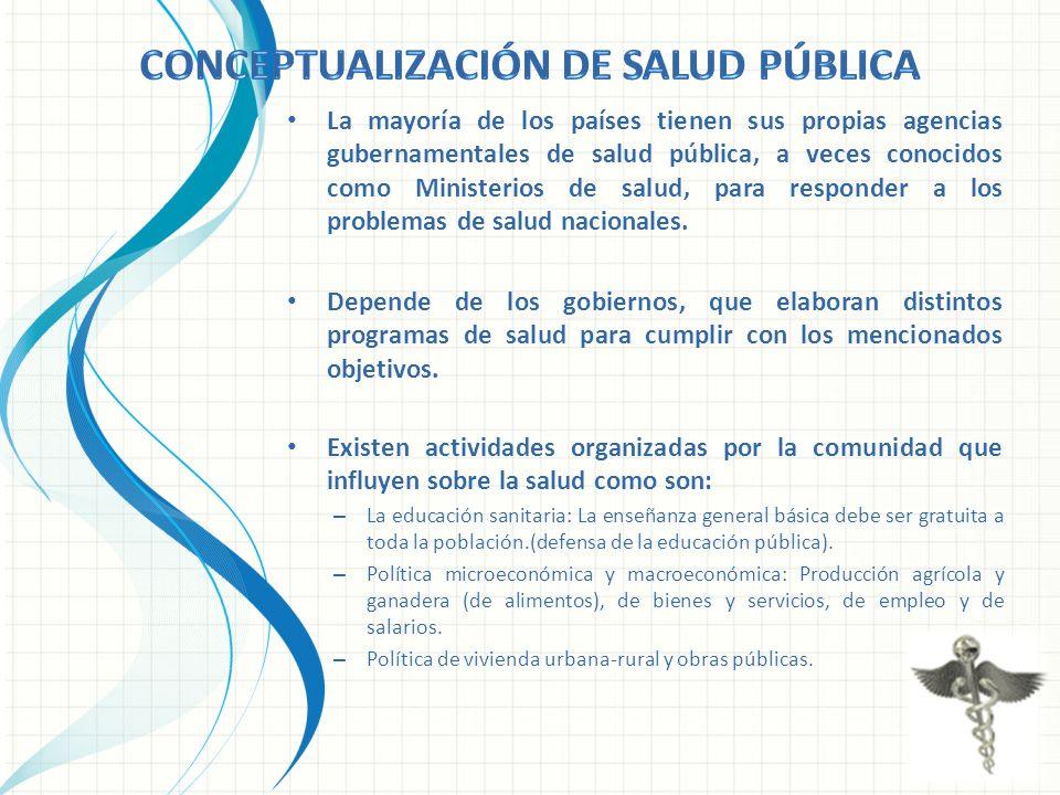 Conceptualización de salud pública