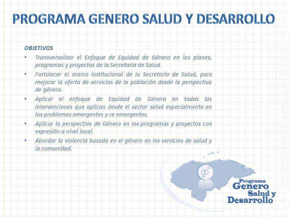 Programa Genero salud y Desarrollo