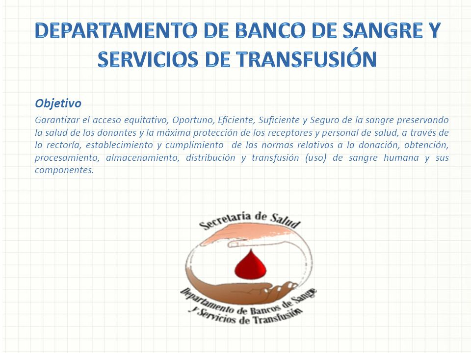 Departamento de banco de sangre y servicios de transfusión