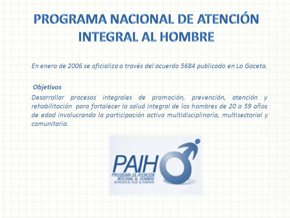 Programa nacional de atención integral al hombre