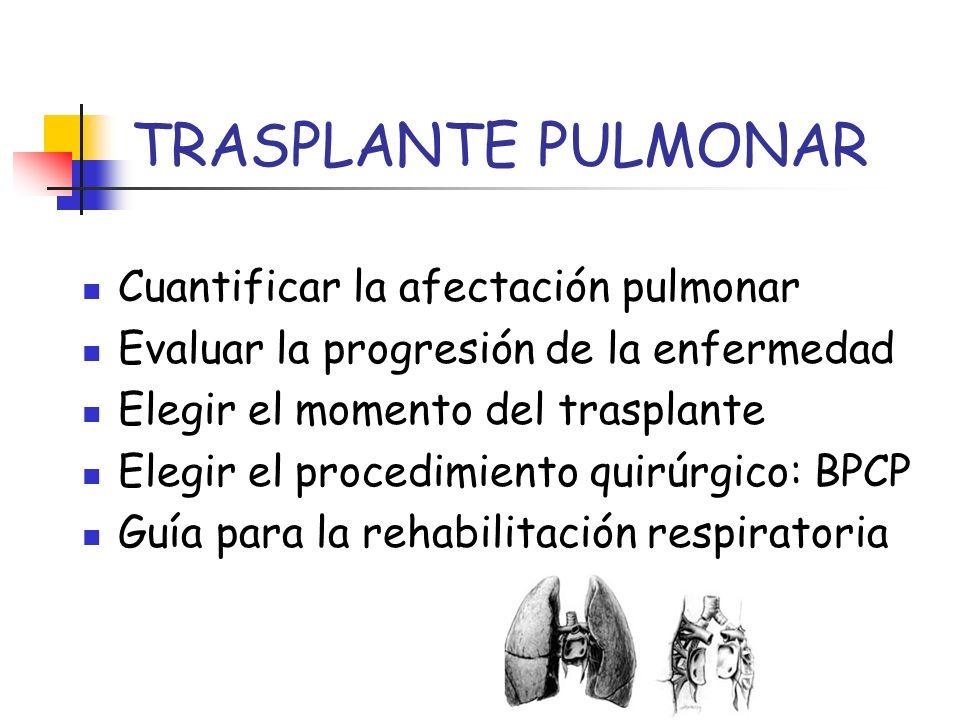TRASPLANTE PULMONAR Cuantificar la afectación pulmonar