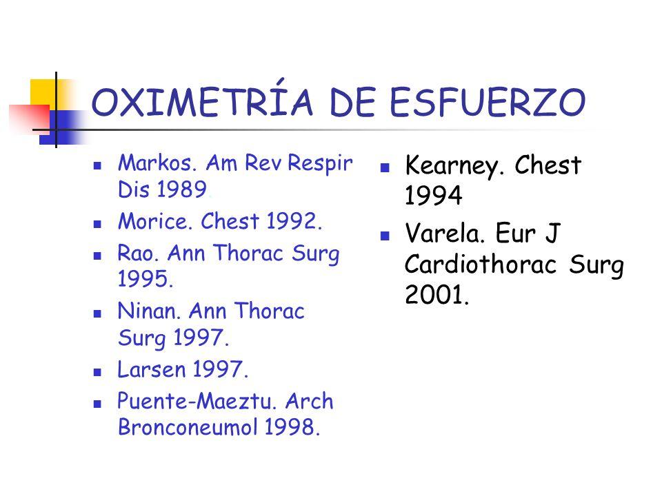 OXIMETRÍA DE ESFUERZO Kearney. Chest 1994
