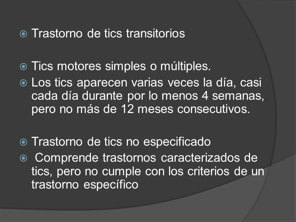 Trastorno de tics transitorios