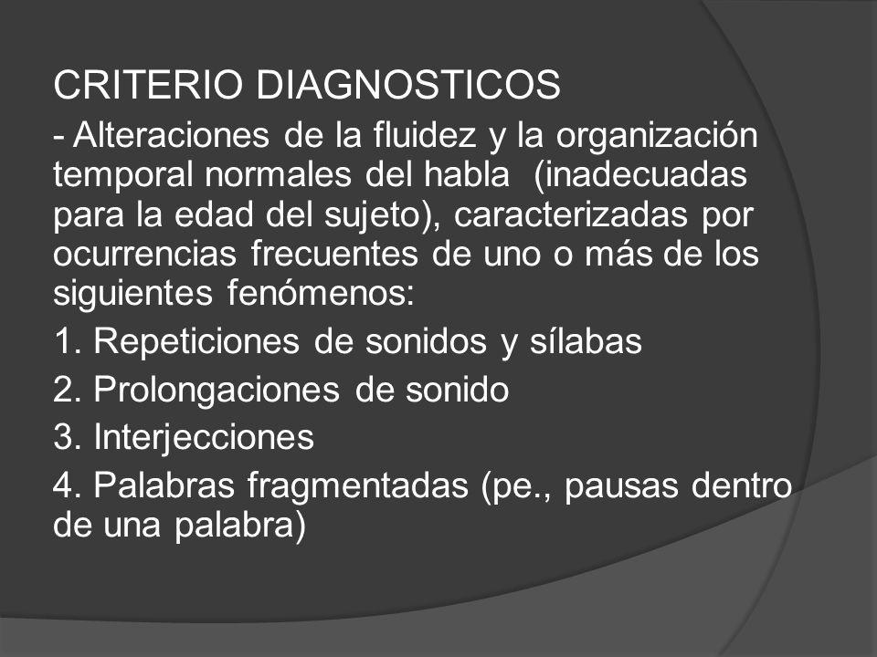 CRITERIO DIAGNOSTICOS