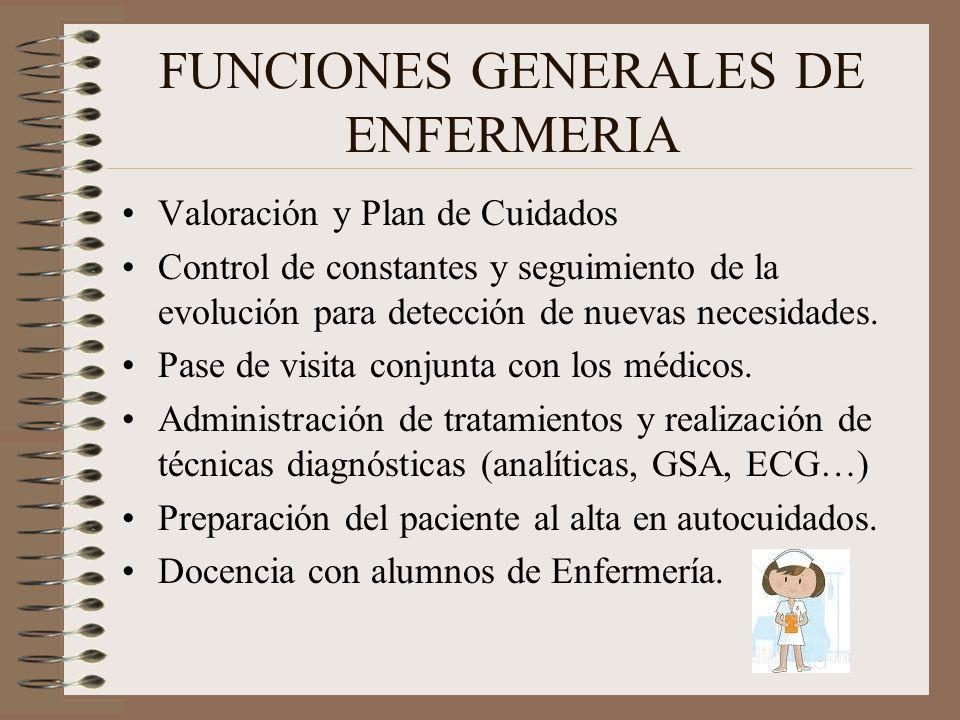 FUNCIONES GENERALES DE ENFERMERIA