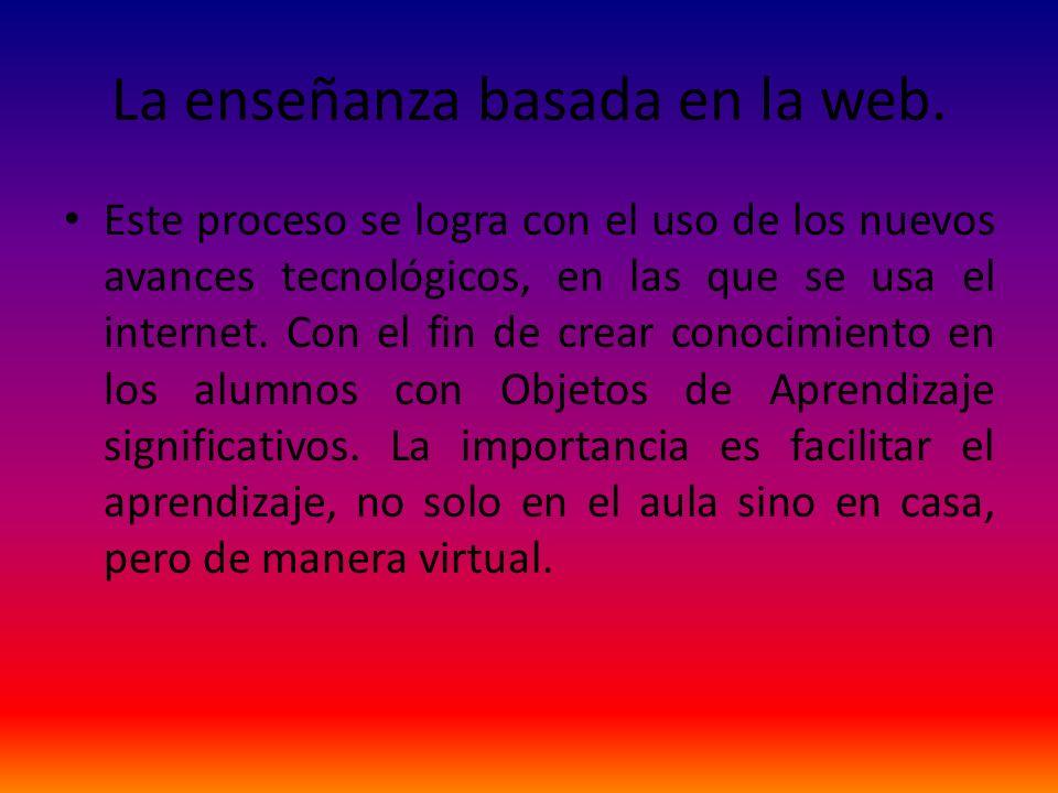 La enseñanza basada en la web.