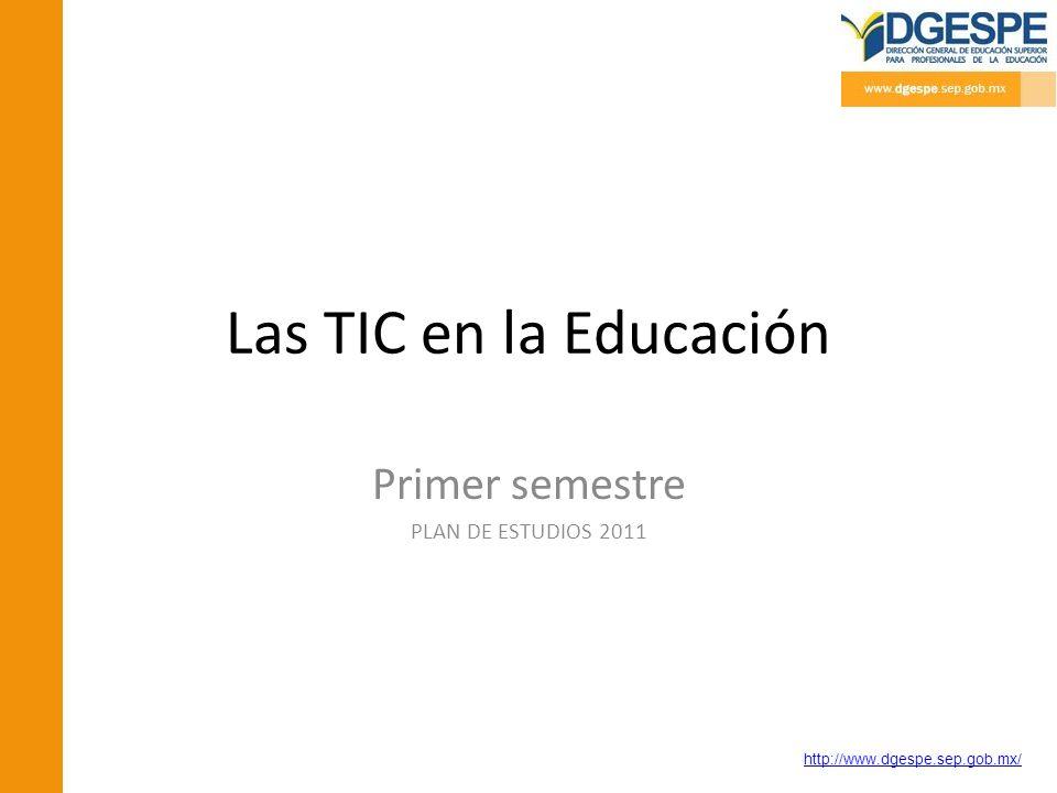 Primer semestre PLAN DE ESTUDIOS 2011