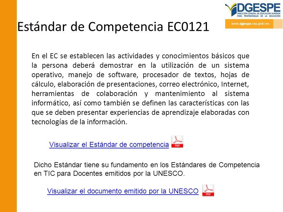 Estándar de Competencia EC0121