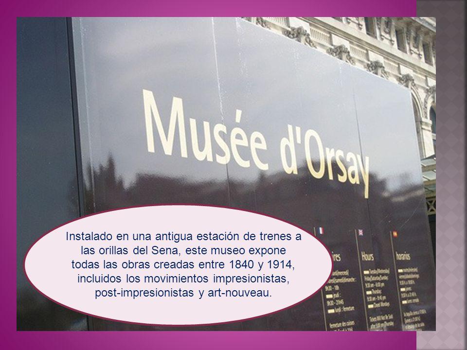 Instalado en una antigua estación de trenes a las orillas del Sena, este museo expone todas las obras creadas entre 1840 y 1914, incluidos los movimientos impresionistas, post-impresionistas y art-nouveau.