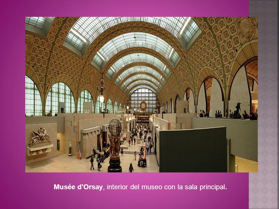 Musée d Orsay, interior del museo con la sala principal.