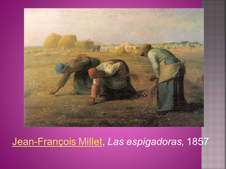 Jean-François Millet, Las espigadoras, 1857