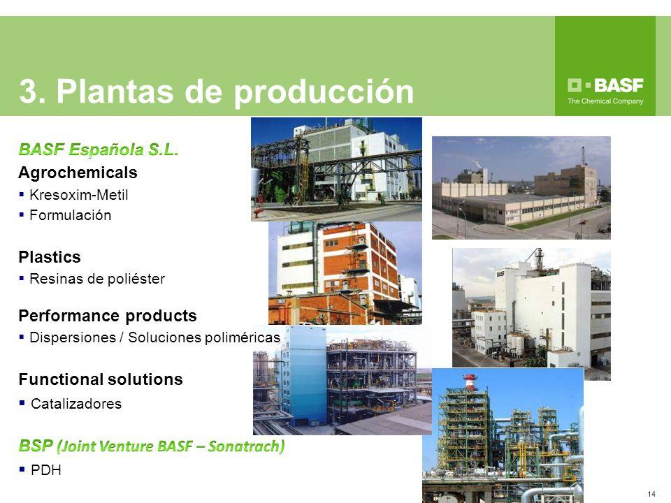 3. Plantas de producción BASF Española S.L. Agrochemicals Plastics