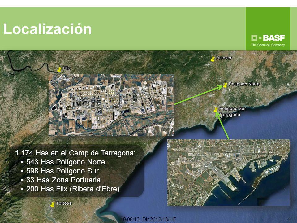 Localización 1.174 Has en el Camp de Tarragona: 543 Has Polígono Norte