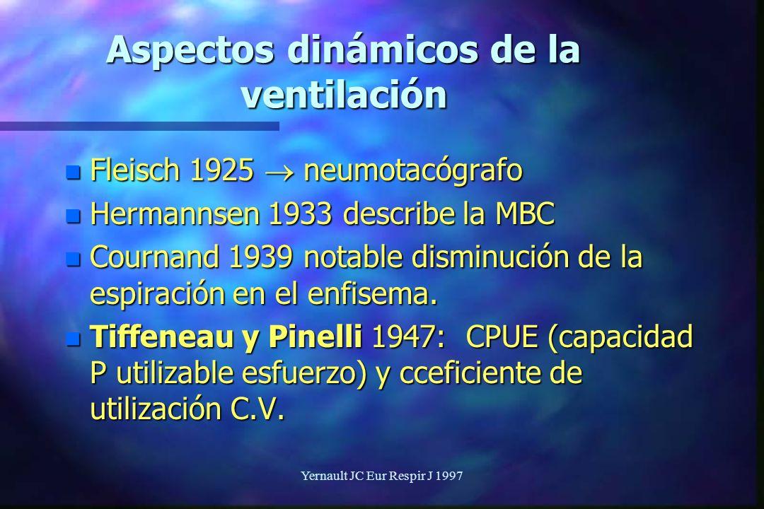 Aspectos dinámicos de la ventilación