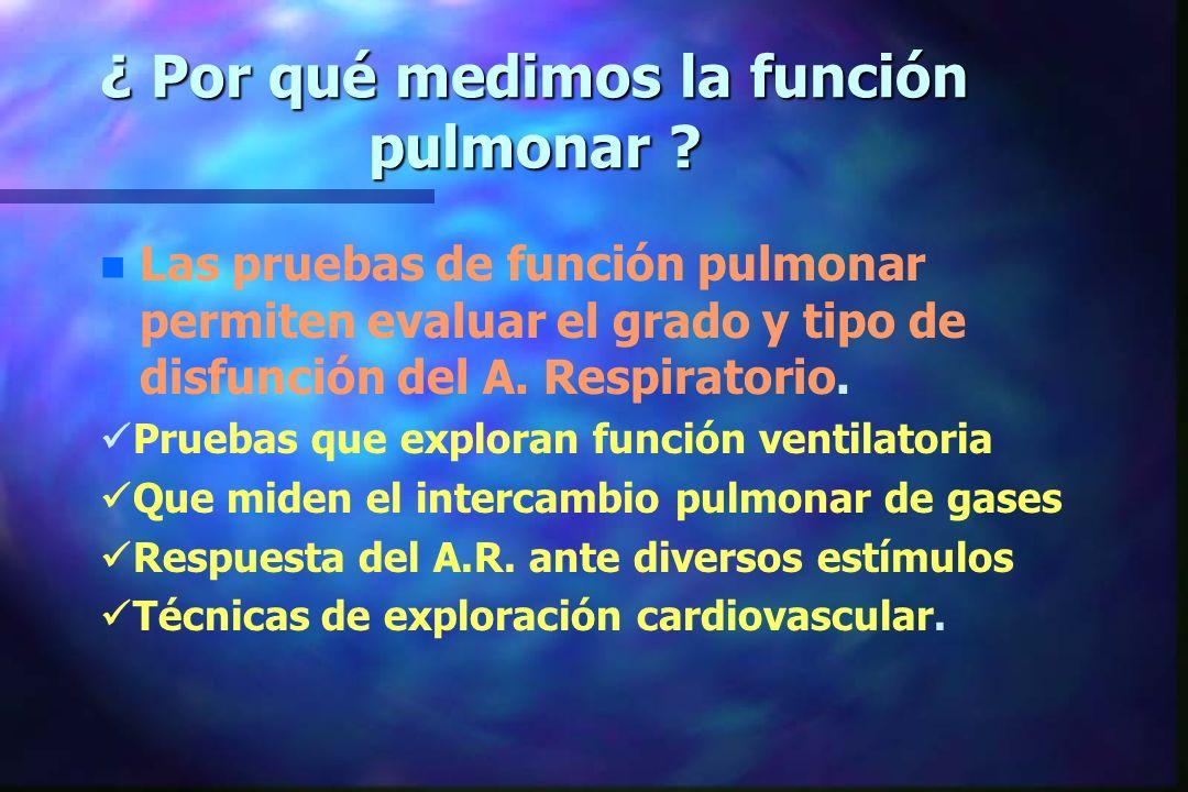 ¿ Por qué medimos la función pulmonar