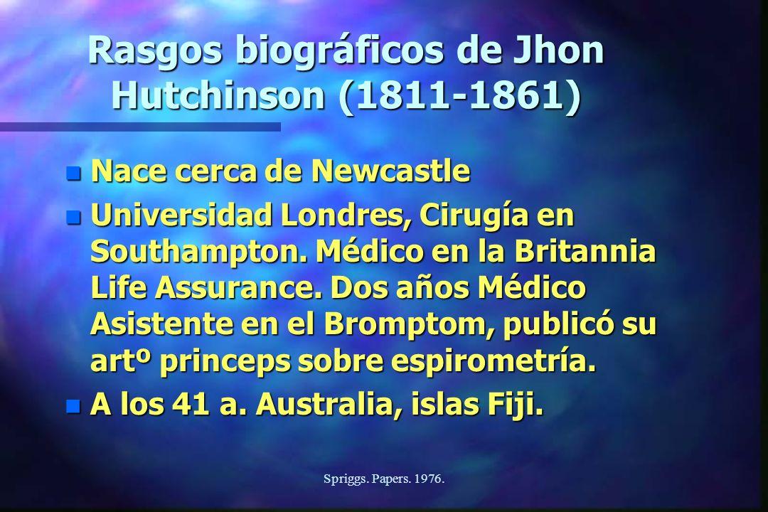 Rasgos biográficos de Jhon Hutchinson (1811-1861)
