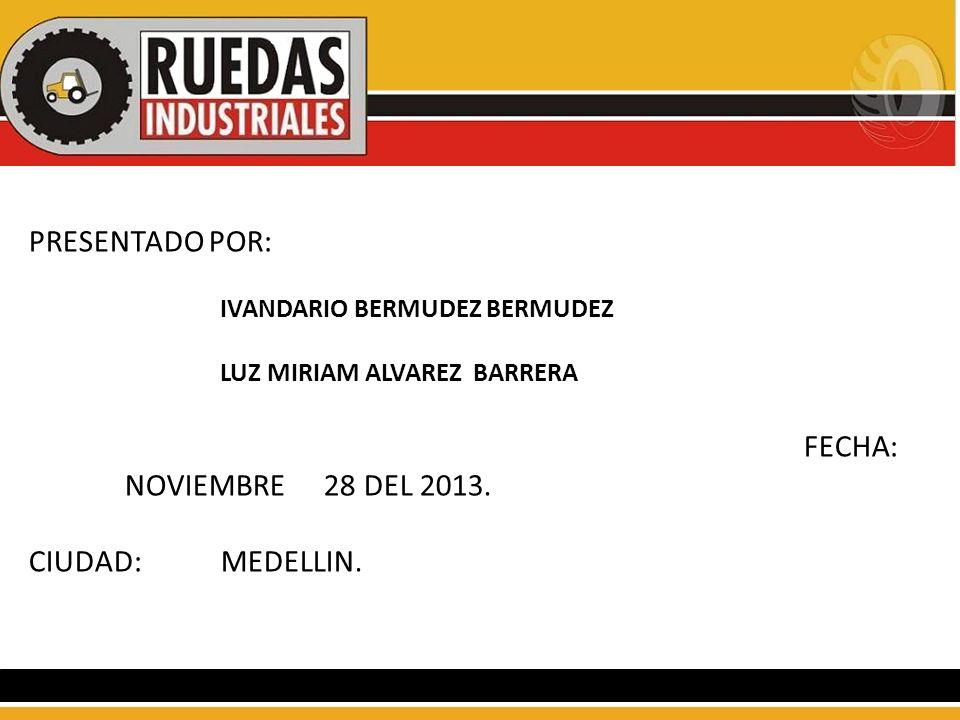 PRESENTADO POR: FECHA: NOVIEMBRE 28 DEL 2013. CIUDAD: MEDELLIN.