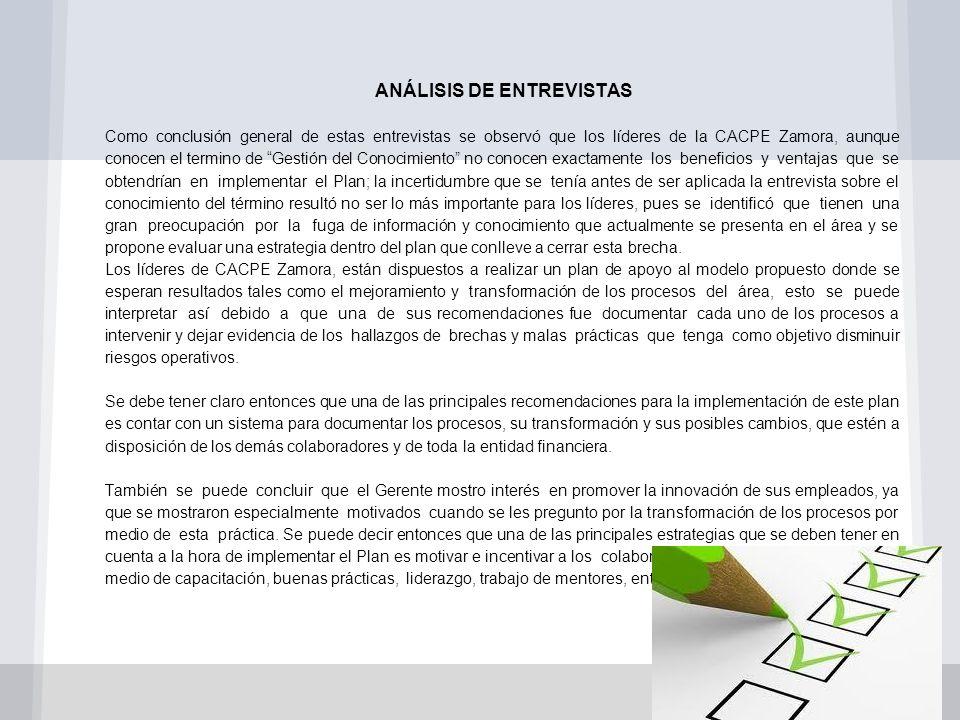 ANÁLISIS DE ENTREVISTAS