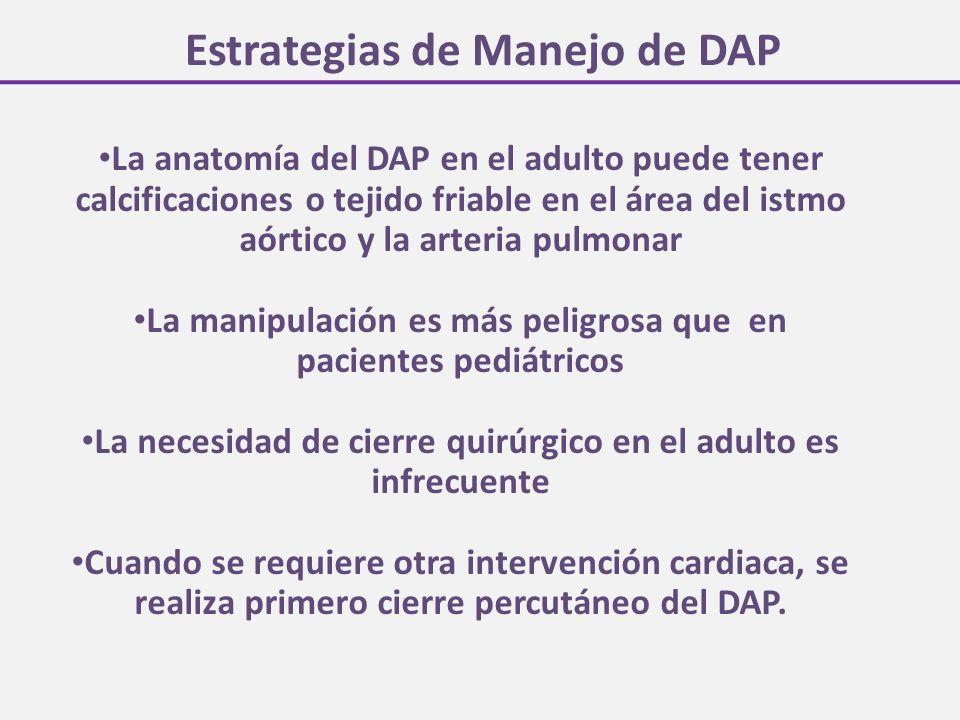 Estrategias de Manejo de DAP