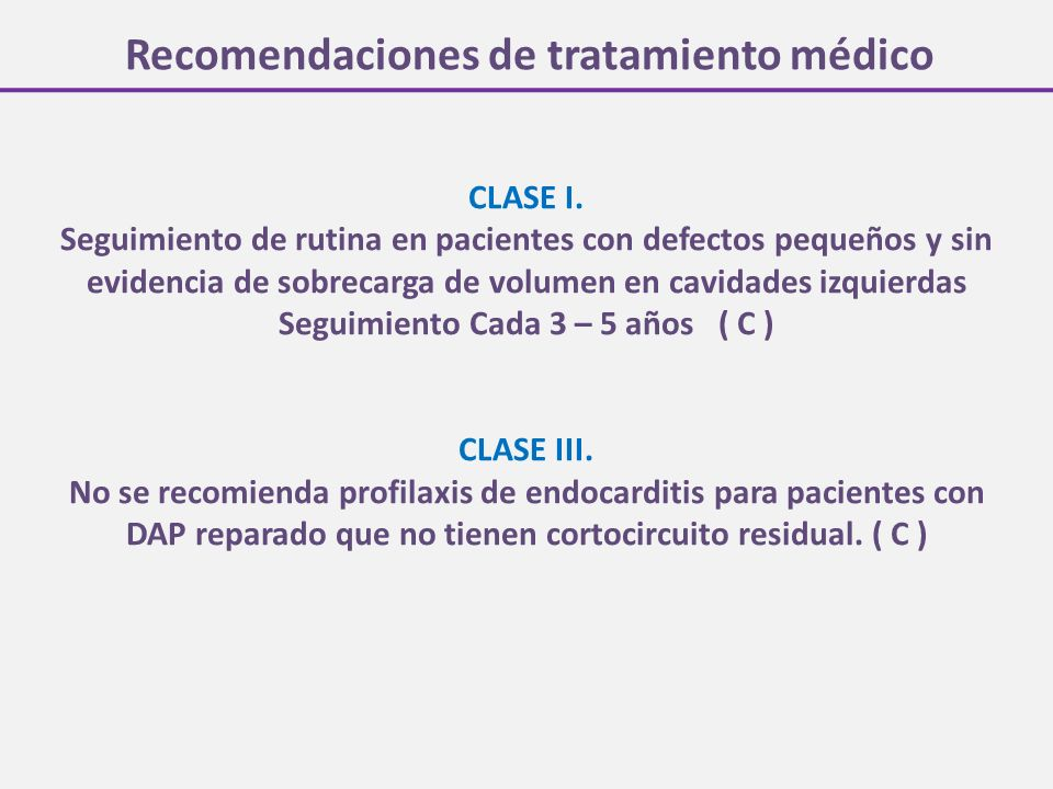 Recomendaciones de tratamiento médico