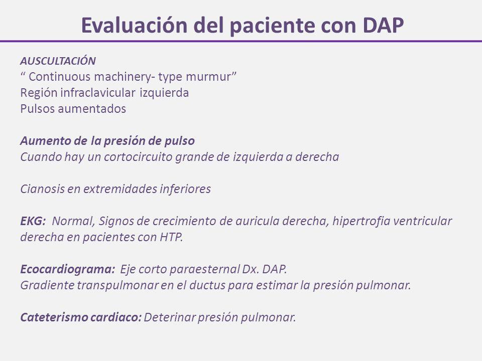 Evaluación del paciente con DAP