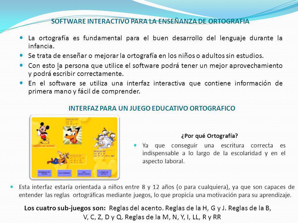 SOFTWARE INTERACTIVO PARA LA ENSEÑANZA DE ORTOGRAFIA