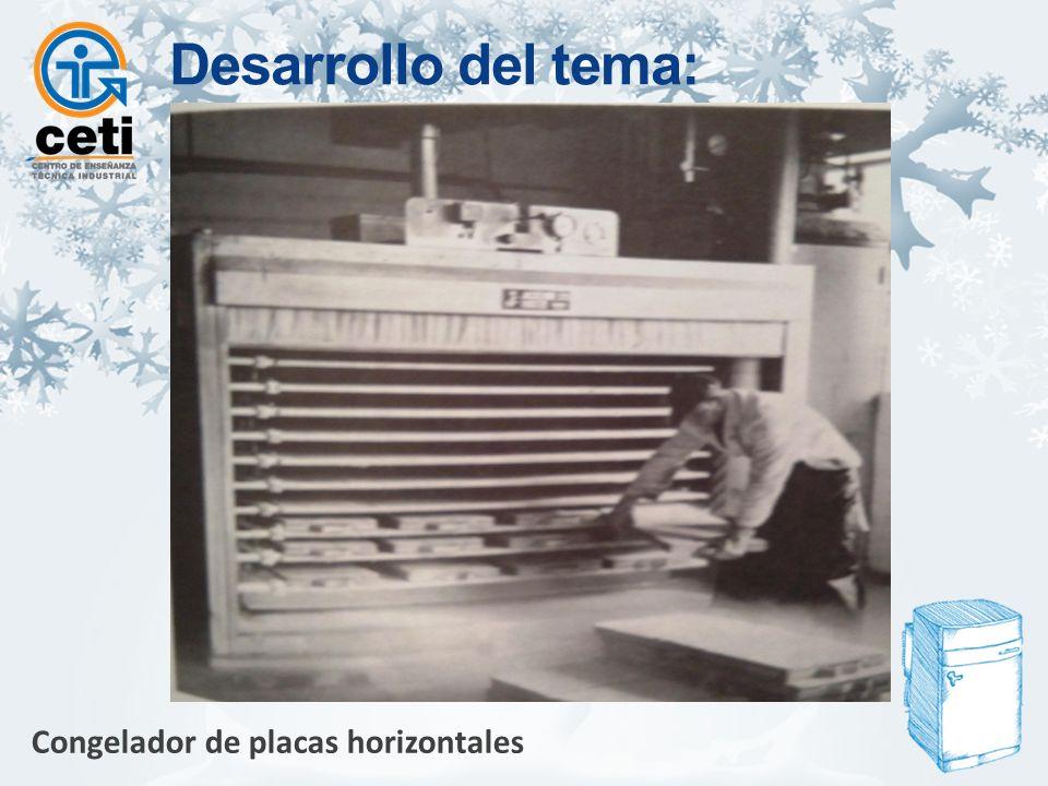 Congelador de placas horizontales