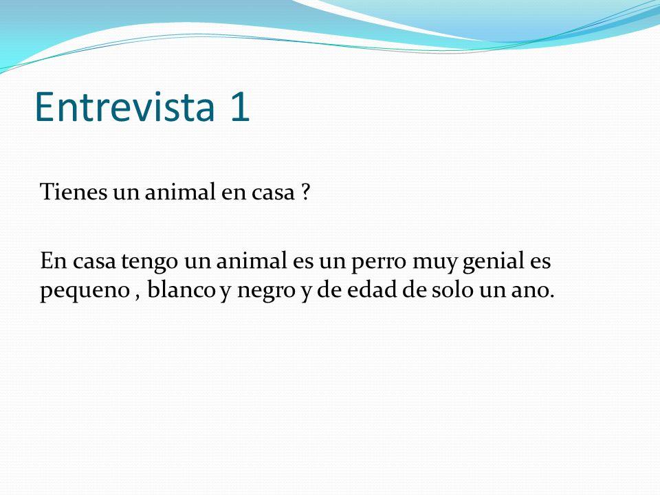 Entrevista 1 Tienes un animal en casa