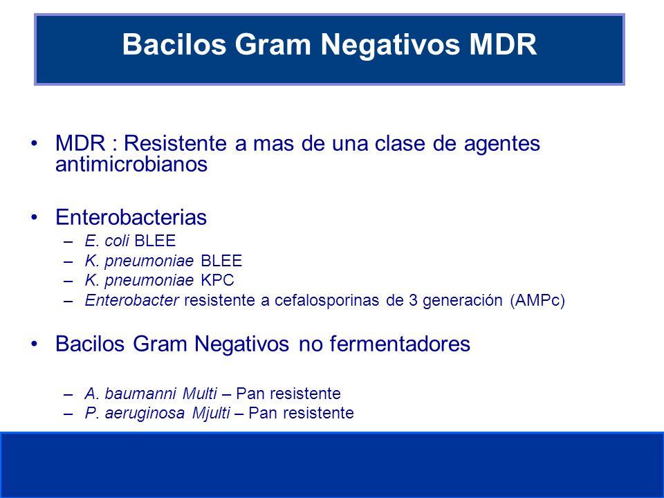 Bacilos Gram Negativos MDR