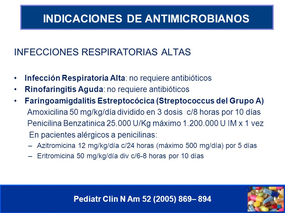 INDICACIONES DE ANTIMICROBIANOS