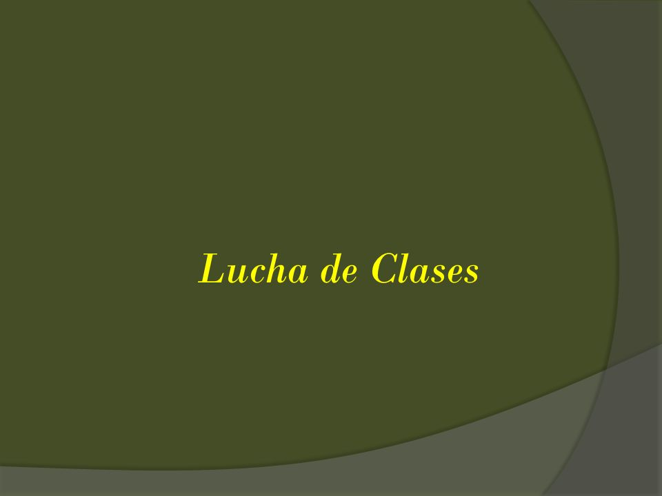 Lucha de Clases