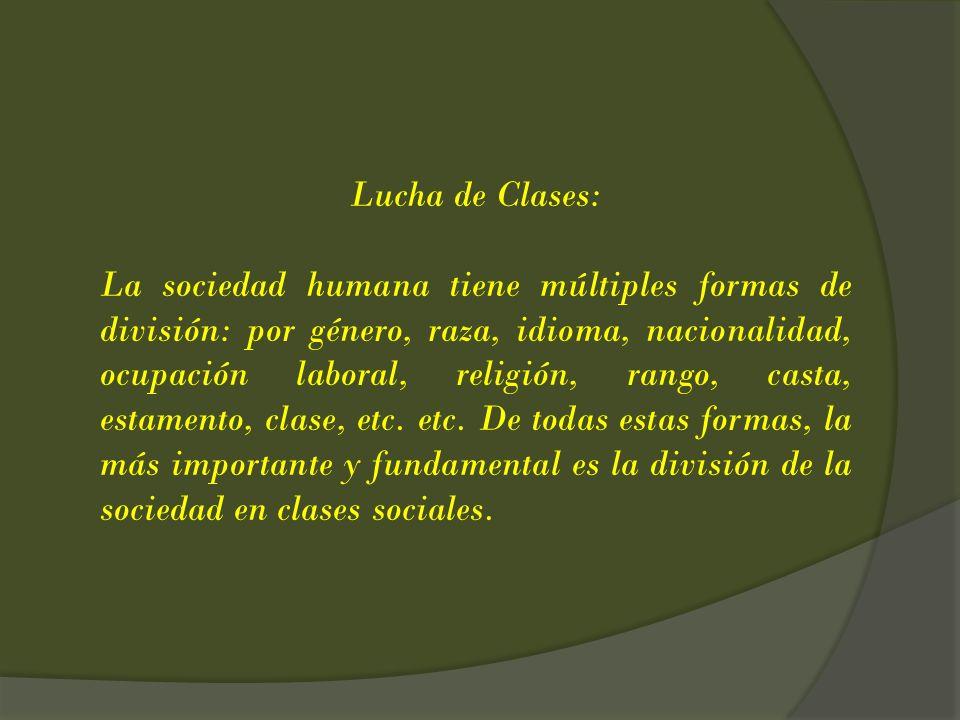 Lucha de Clases:
