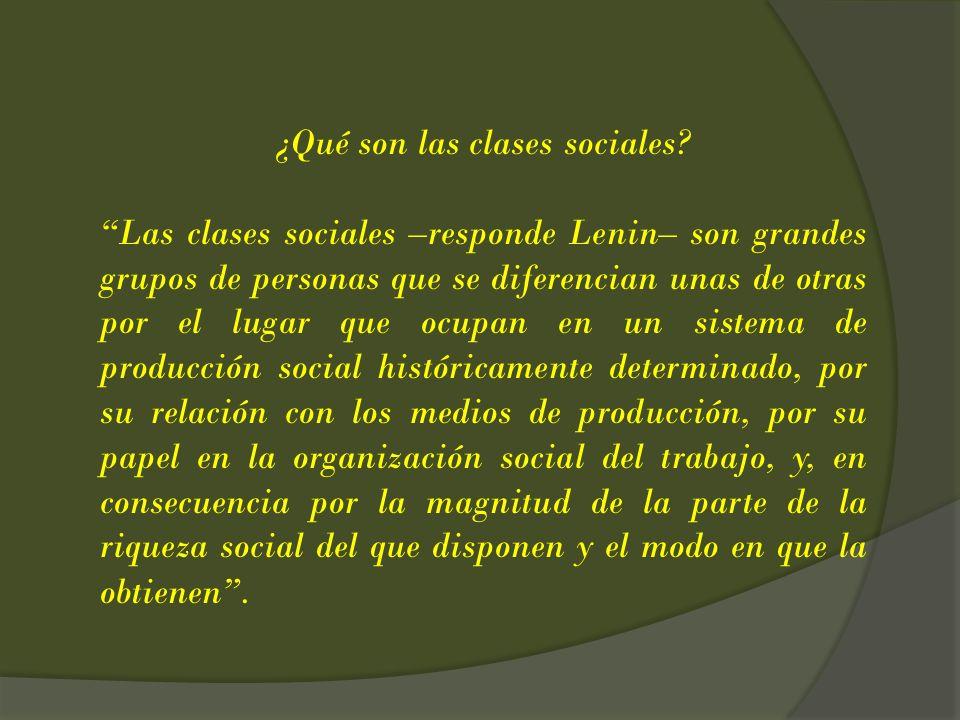 ¿Qué son las clases sociales