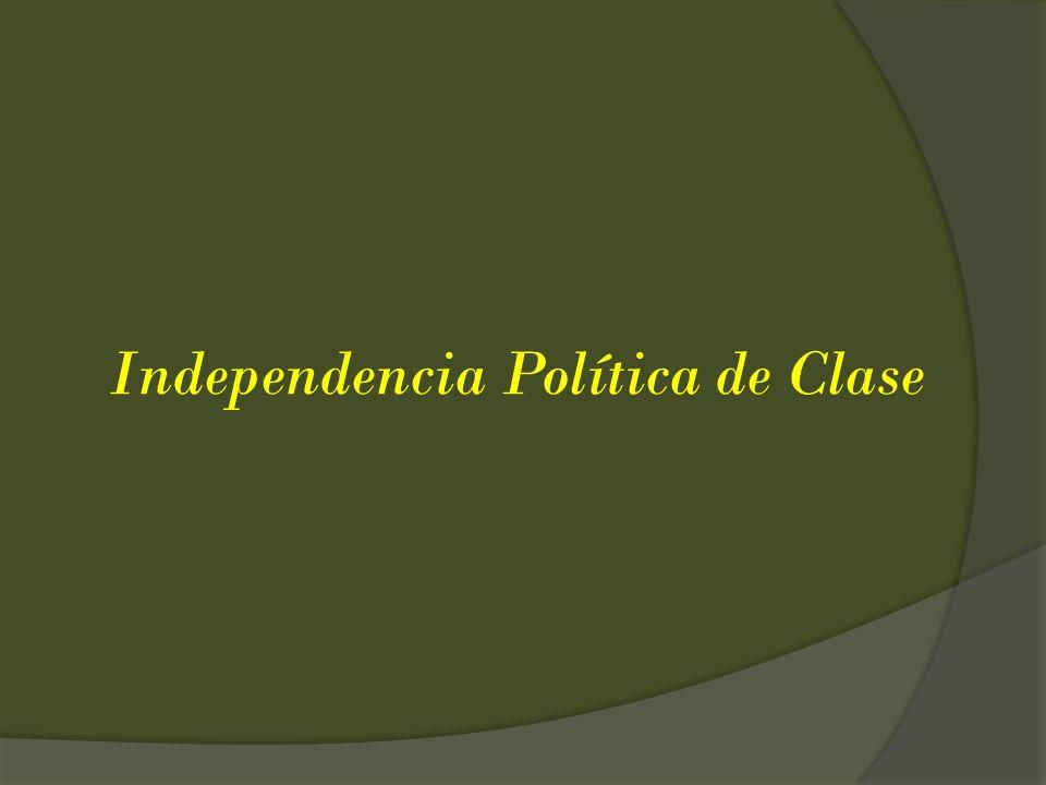 Independencia Política de Clase