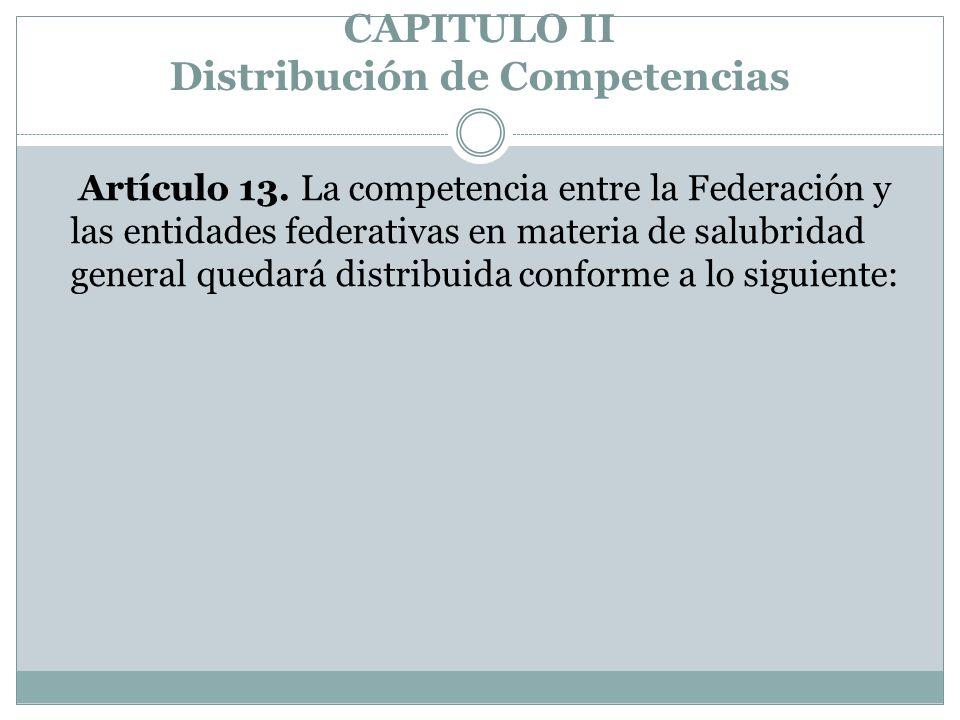 CAPITULO II Distribución de Competencias