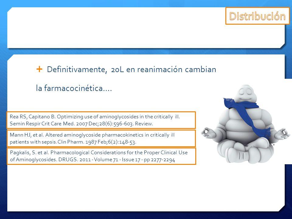 Distribución Definitivamente, 20L en reanimación cambian