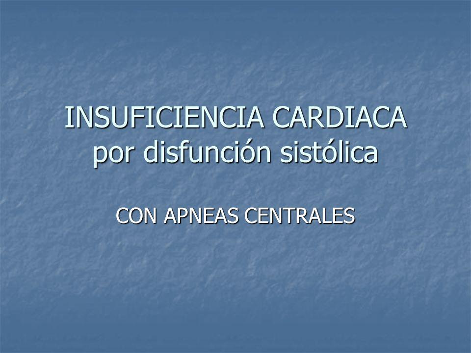 INSUFICIENCIA CARDIACA por disfunción sistólica