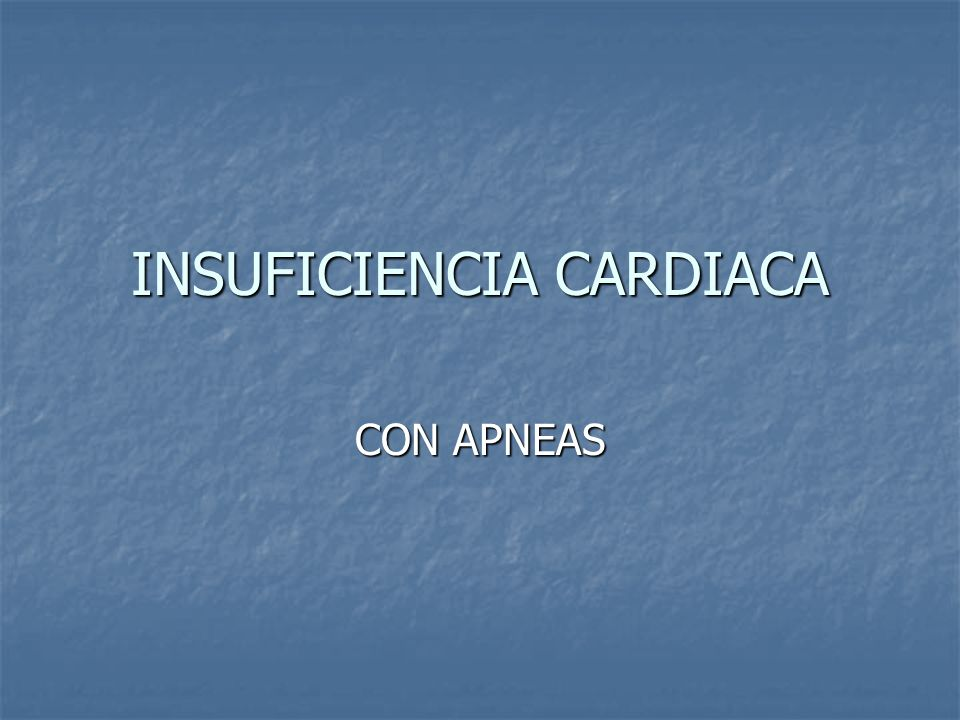 INSUFICIENCIA CARDIACA