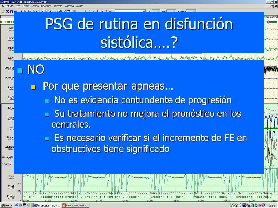 PSG de rutina en disfunción sistólica….