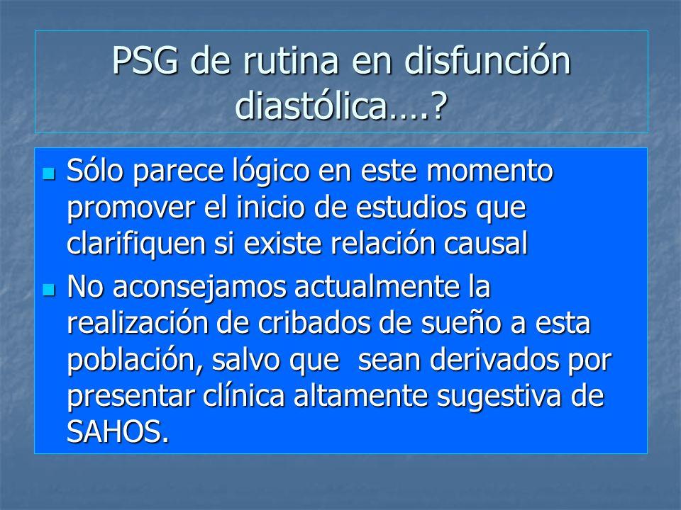 PSG de rutina en disfunción diastólica….